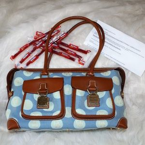 Classic Dooney & Bourke double pocket jacquard bag
